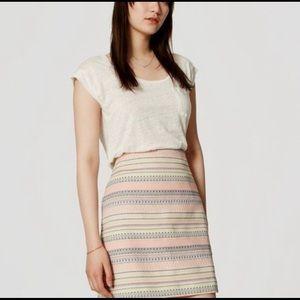 Southwest print skirt, Loft sz 8